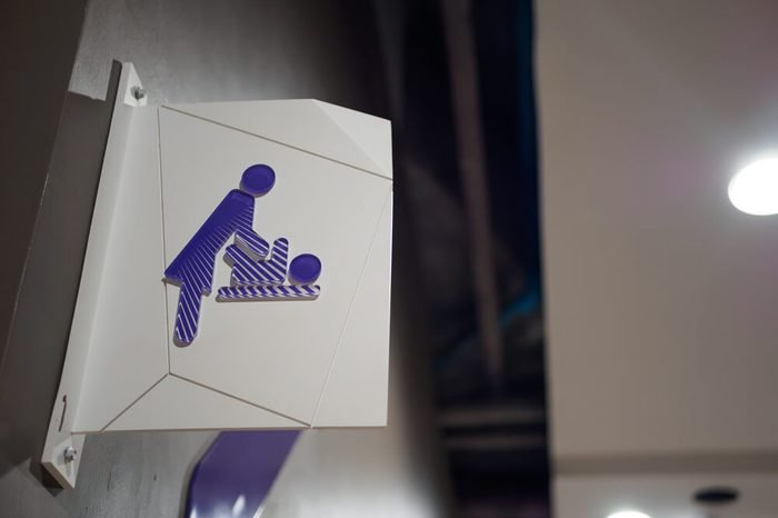 The sign and symbol of Diaper changing room or Baby Changing Room