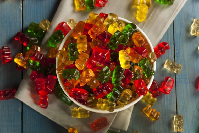Colorful Fruity Gummy Bears Ready to Eat