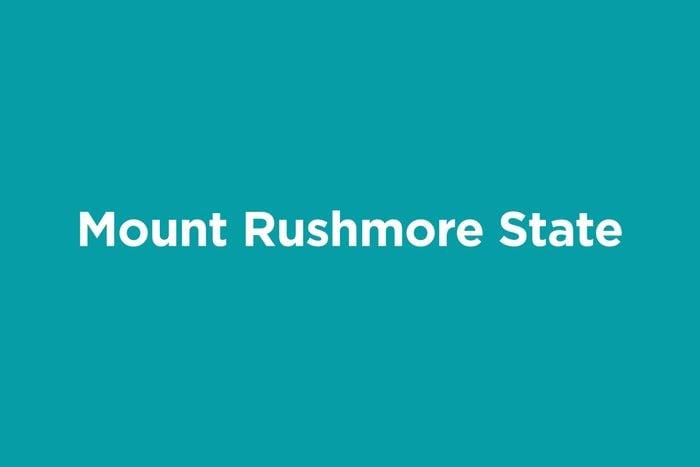 mount rushmore state