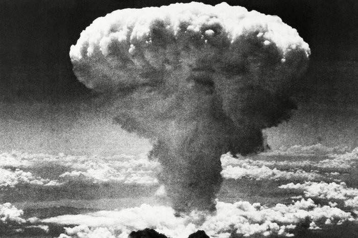 A mushroom cloud rises moments after the atomic bomb was dropped on Nagasaki, southern Japan. On two days in August 1945, U.S. planes dropped two atomic bombs, one on Hiroshima, one on Nagasaki, the first and only time nuclear weapons have been used. Their destructive power was unprecedented, incinerating buildings and people, and leaving lifelong scars on survivors, not just physical but also psychological, and on the cities themselves. Days later, World War II was over