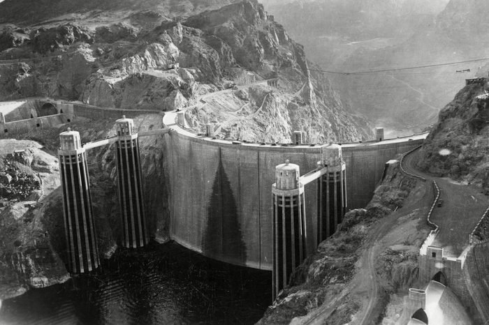 The Hoover Dam (boulder Dam) Nevada Usa circa 1936