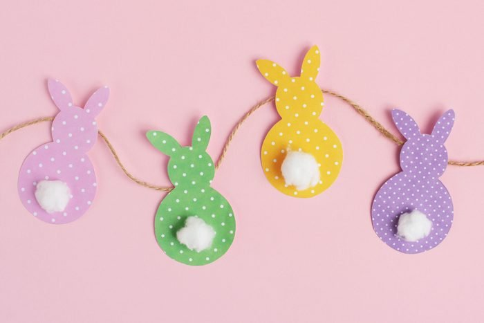 easter bunny homemade diy garland