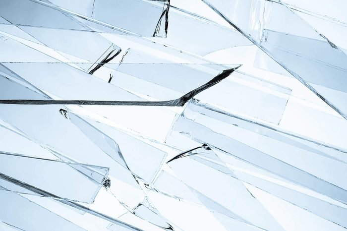 Background of clear broken glass