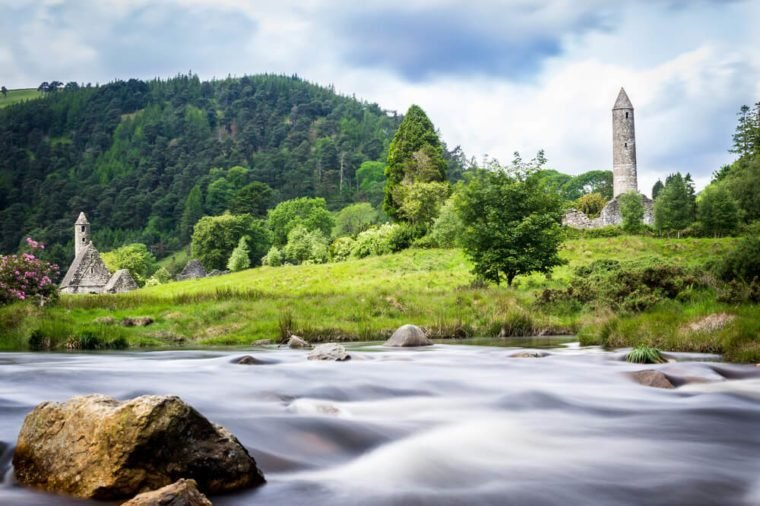 Glendalough Monastery river view
