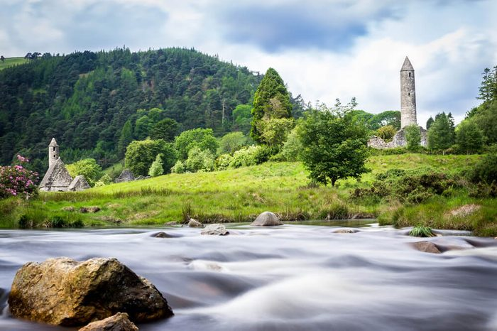 Glendalough Monastery river view
