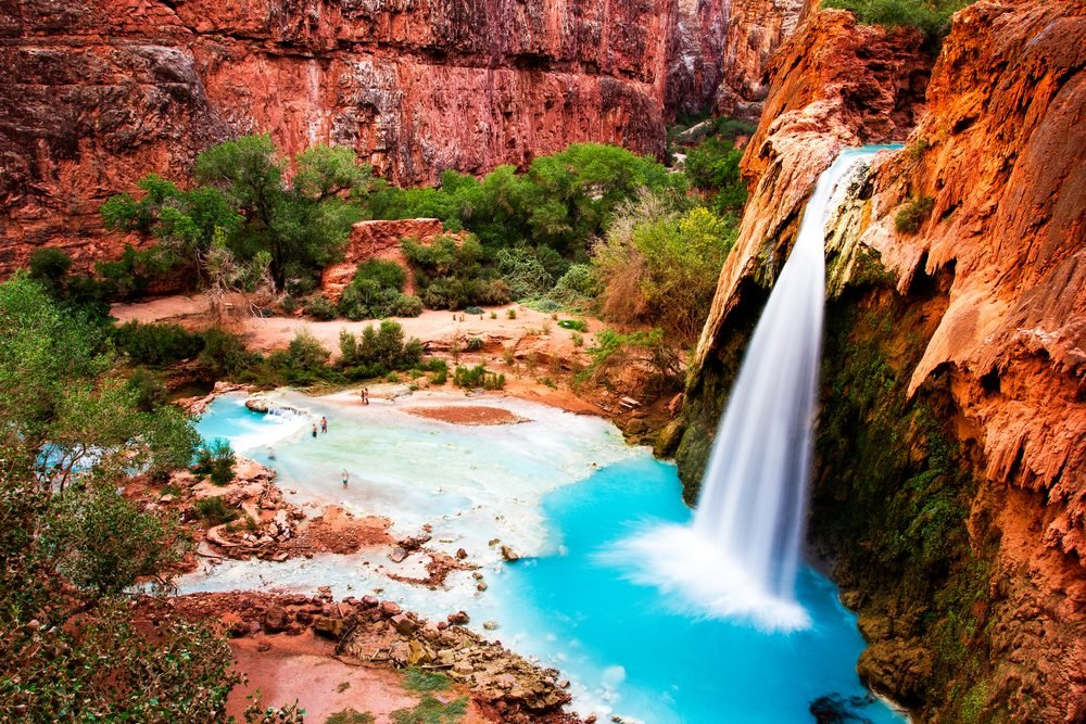 Havasu Falls, natural paradise in the Grand Canyon