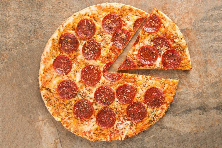 Thin Crust Pepperoni Pizza