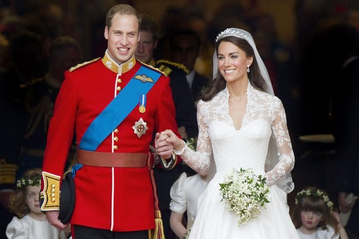 Prince William the Duke of Cambridge and Catherine Middleton the Duchess of Cambridge at Westminster Abbey On April 29 2011 in London England