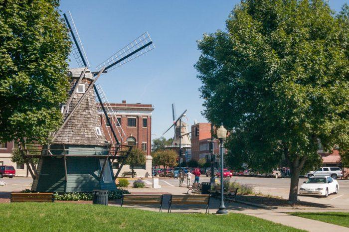 Windmill at Dutch village Pella in Iowa, USA