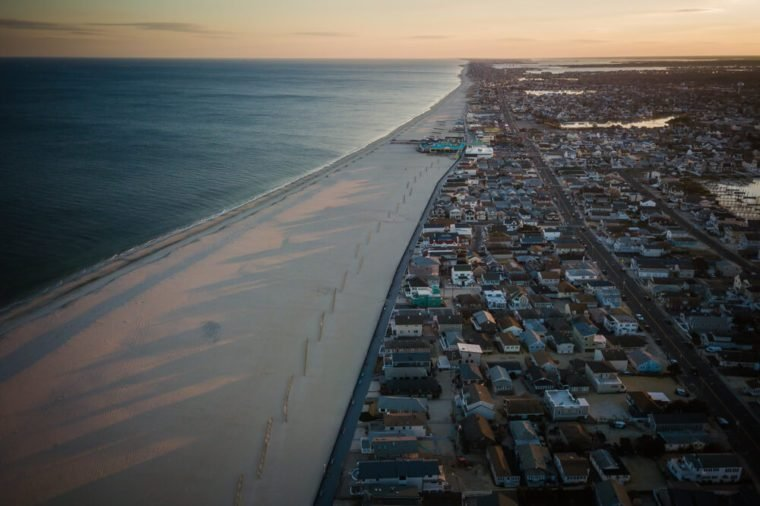 Aerial of Point Pleasant New Jersey