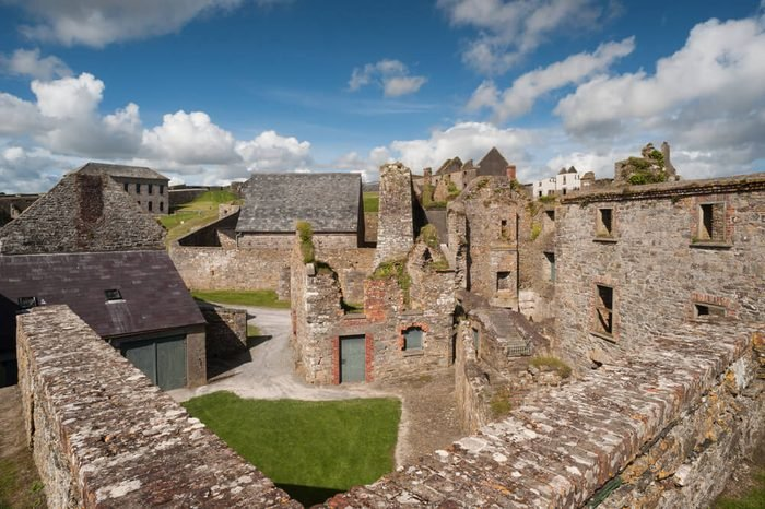 old ruins of Charles fort in Kinsale, county cork