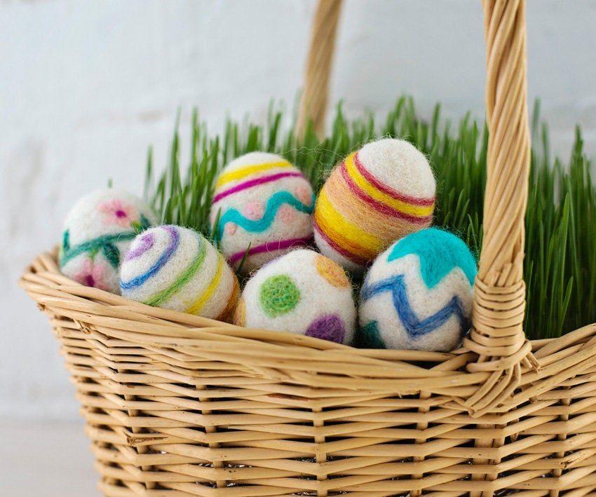felted easter egg craft idea