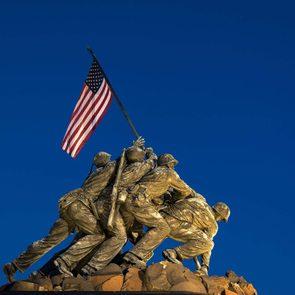 Marine Corps War Memorial, also Iwo Jima Memorial, Arlington Ridge Park, Arlington, Virginia, USA Arlington, Virginia, America
