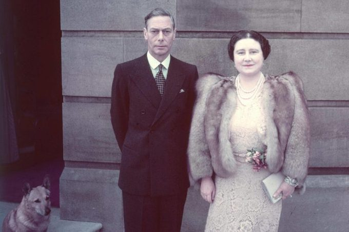King George Vi (1895 - 1952) with His Wife and Consort Queen Elizabeth Outside Buckingham Palace at the Time of Their Silver Wedding Anniversary in 1948 1948