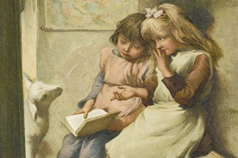 'Mary Had A Little Lamb Its Fleece Was White As Snow and Everywhere That Mary Went the Lamb Was Sure to Go '