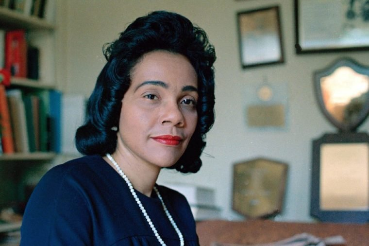 King Coretta Scott King, widow of slain civil rights leader Dr. Martin Luther King Jr., is seen at her home in Atlanta, Ga