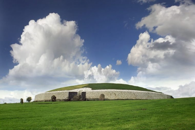 Newgrange Megalithic Passage Tomb 3200 BC - a World Heritage Site by UNESCO