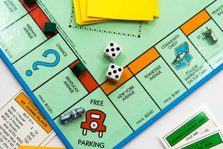 November 14, 2014 - Houston, TX, USA : Monopoly board game