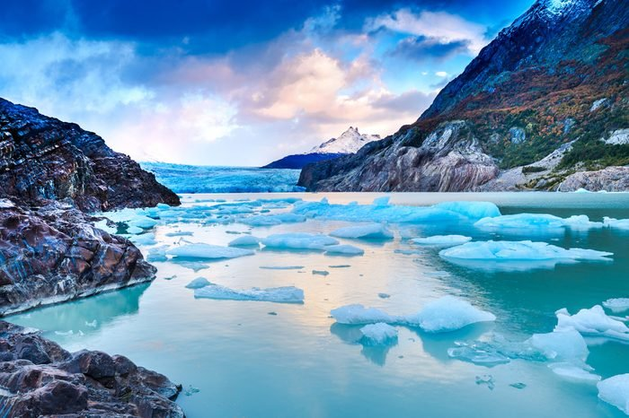 Patagonia, Chile - Grey Glacier is a glacier in the Southern Patagonian Ice Field on Cordillera del Paine
