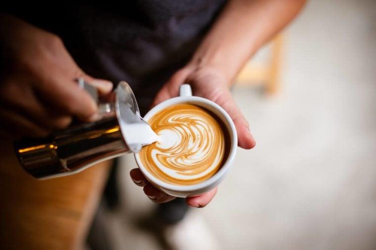 coffee cup latte art