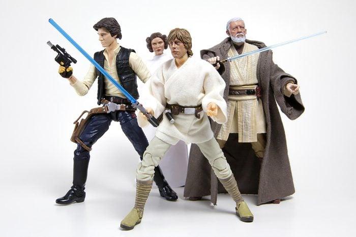Princess Leia Organa, Han Solo, Luke Skywalker & Obi Wan 'Ben' Kanobi form Star Wars Episode IV: A New Hope - Hasbro Black Series 6 inch figures