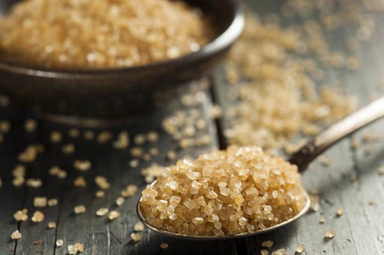 Raw Organic Cane Sugar in a Bowl