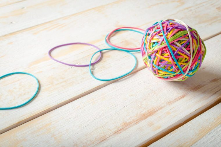 Rubber Bands ball best april fools pranks for parents