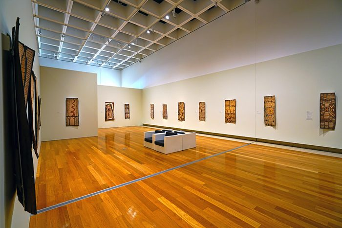BRISBANE, AUSTRALIA -27 JUL 2017- View of the Queensland Art Gallery and Gallery of Modern Art (QAGOMA), an art museum located in the City of Brisbane, Queensland, Australia.