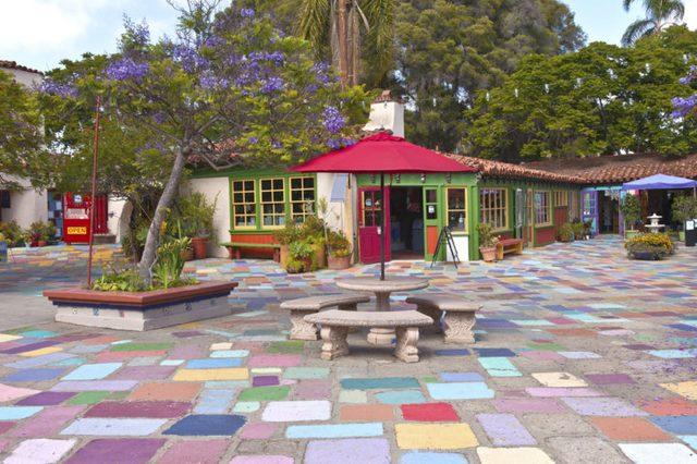Spanish Village stuidios and exhibits Balboa Park San Diego California.