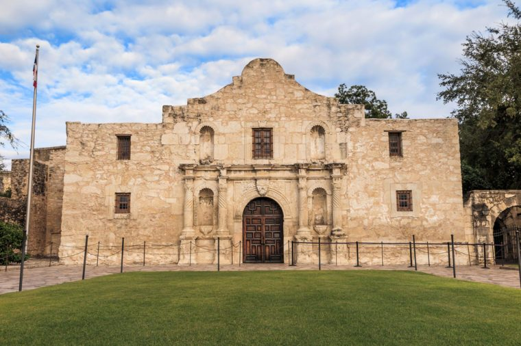 The Historic Alamo at, San Antonio, Texas.