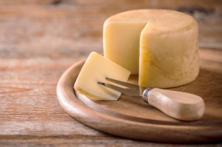 Traditional italian hard cheese still life