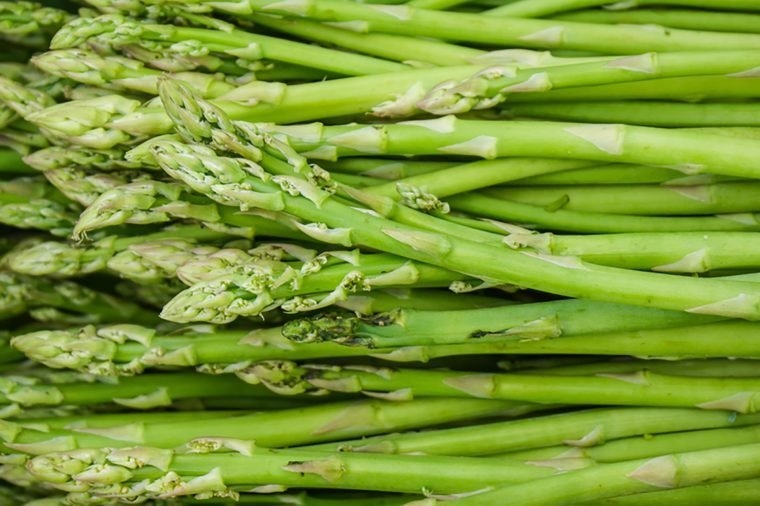 Close up fresh Asparagus in vegetable market