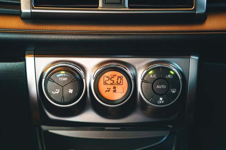 Car air conditioning control panel