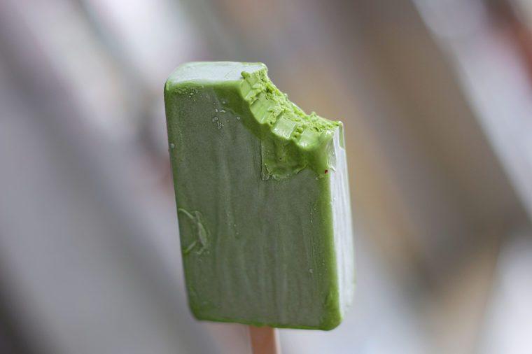 ice pop green tea.