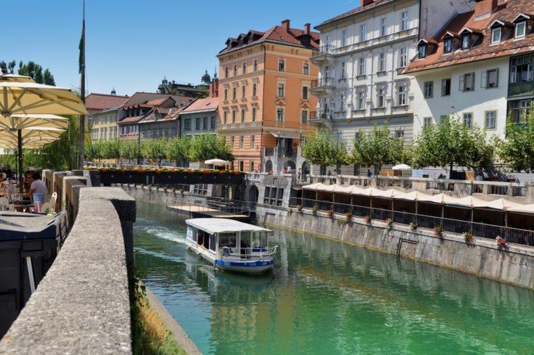 The river Ljubljanica in Ljubljana