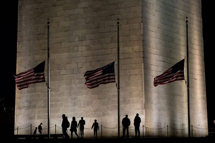Visitors at the Washington Monument