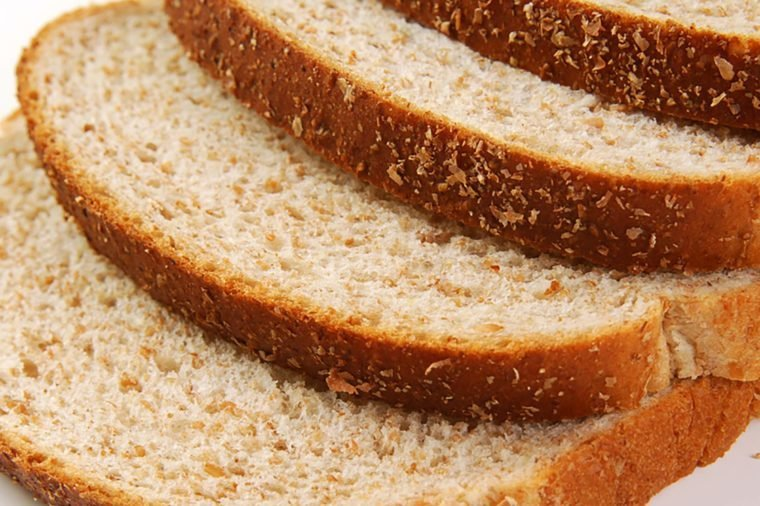 Close up shot of sliced whole wheat bread