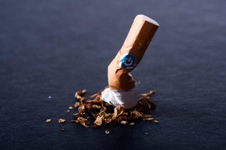 Quit smoking, broken cigarette