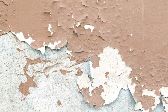 Paint was peeling walls.