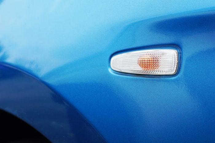 turn signal car detail