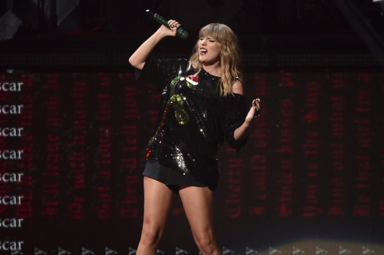 Singer Taylor Swift performs at Z100's iHeartRadio Jingle Ball at Madison Square Garden, in New York