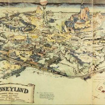 Walt Disney's First-Ever Map of Disneyland—Revealed