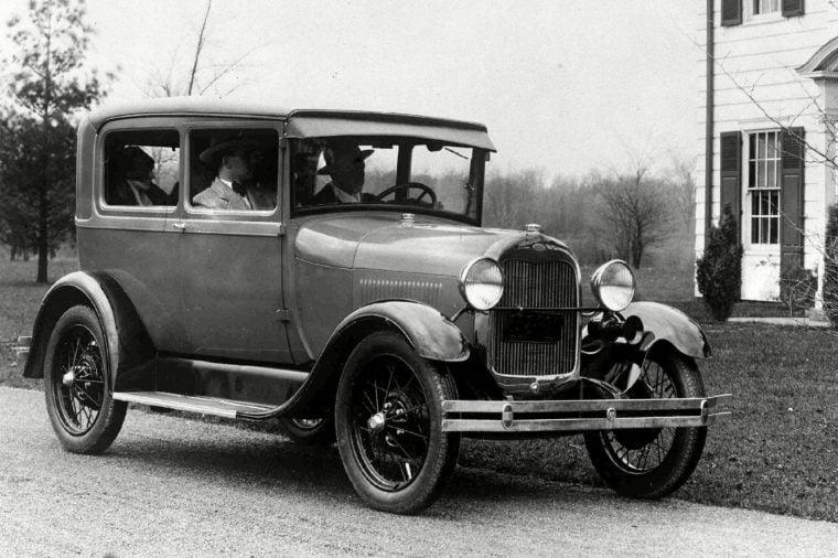 Early Ford car somewhere in America, in Nov. 1927