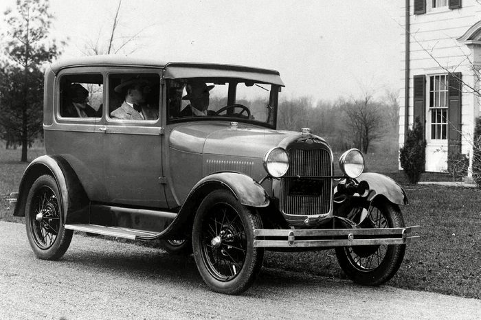 Early Ford car somewhere in America, in Nov. 1927