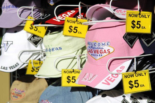 Baseball caps, Las Vegas, Nevada, USA