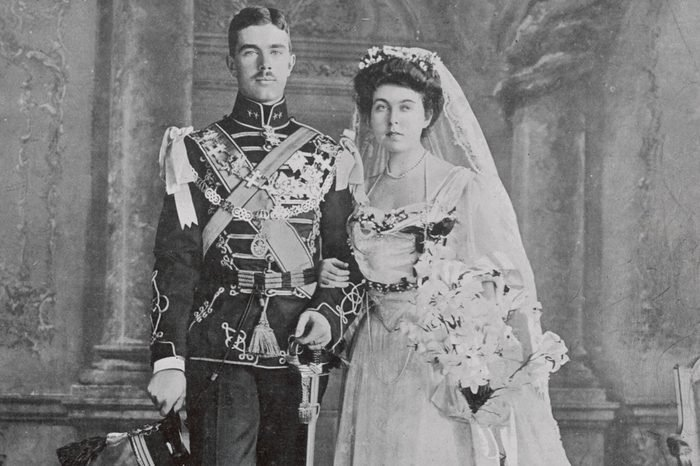 Prince Gustavus Adolphus of Sweden Pictured with His Bride Princess Margaret of Connaught On Their Wedding Day 15 June 1905 the Photograph Was Taken at Windsor Immediately After the Ceremony 1905
