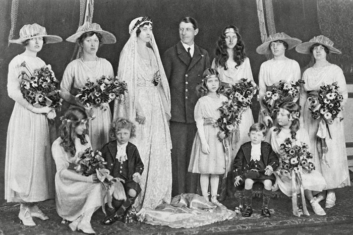 Group Photograph On the Day of the Wedding of Princess Patricia of Connaught and Commander Alexander Ramsay Rn with Eight Bridesmaids and Two Young Train-bearers On Her Marriage Princess Patricia A Granddaughter of Queen Victoria Relinquished Her Royal Title and Became Lady Patricia Ramsay 27-Feb-19