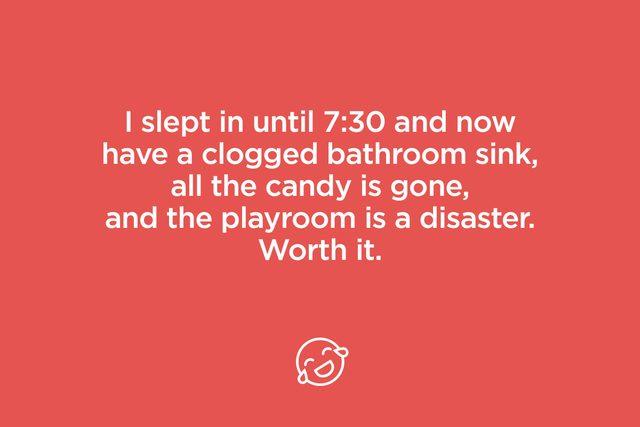 i slept in until 7:30
