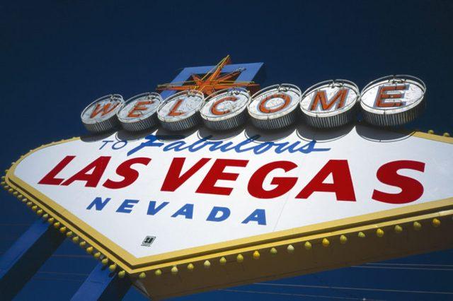 Welcome to Fabulous Las Vegas Nevada sign Las Vegas Nevada USA
