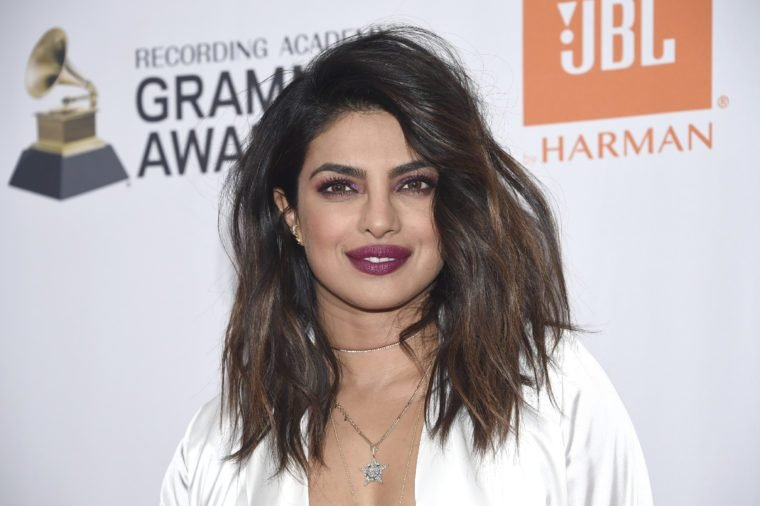 Priyanka Chopra is seen at 2018 Pre-Grammy Gala And Salute To Industry Icons at Sheraton New York Hotel, in New York, NY